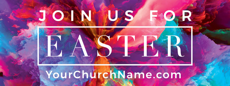 Banners, Easter, Easter Color Smoke, 3' x 8'