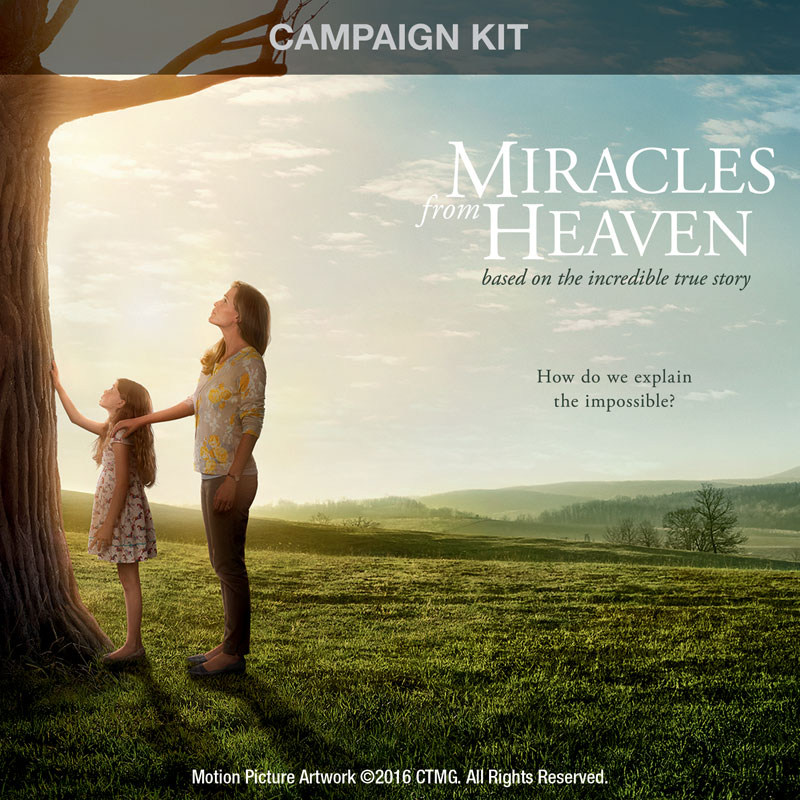 Campaign Kits, Miracles from Heaven, Miracles from Heaven Digital Church Kit