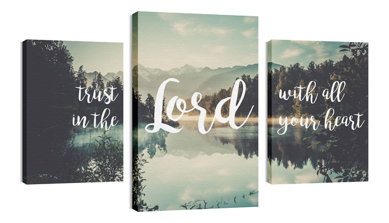 Wall Art, Scripture, Trust In The Lord, 30 x 50
