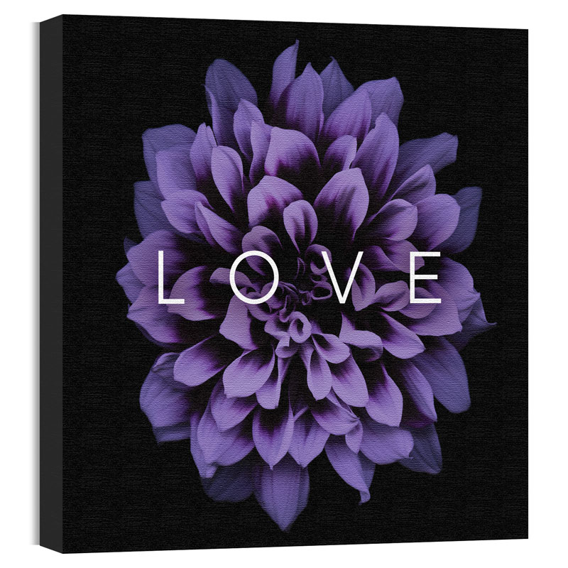 Wall Art, Nature, Mod Love Purple Flower, 24 x 24