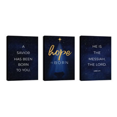 Christmas Star Hope is Born Triptych