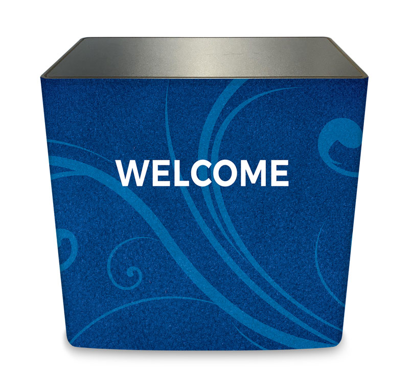 Counter Sleeves, Welcome, Flourish Welcome, Large Rectangle