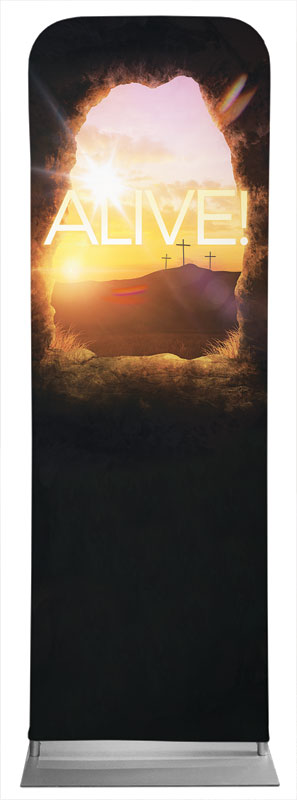 Banners, Easter, Alive Sunrise Tomb, 2' x 6'