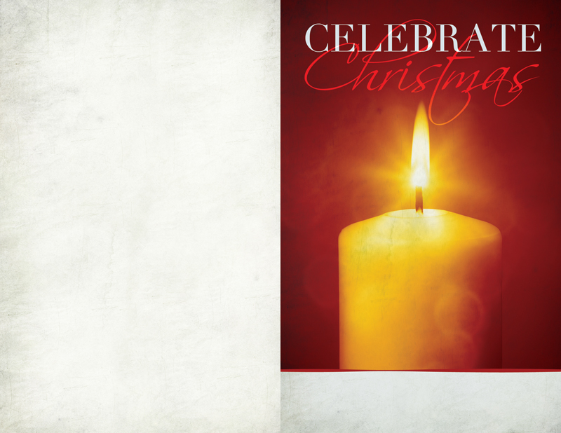 Bulletins, Christmas, Celebrate Christmas Candle, 8.5 x 11