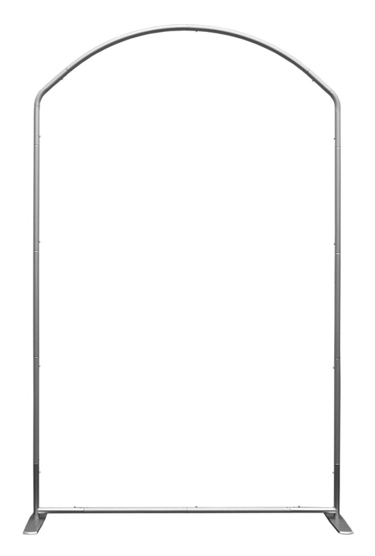 Displays & Stands, Click-It Stand for 5 x 8 Banner, 5' x 8' Curved Top