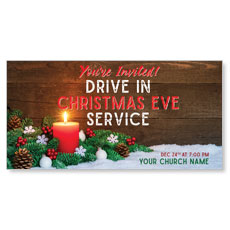 Drive In Christmas Candle