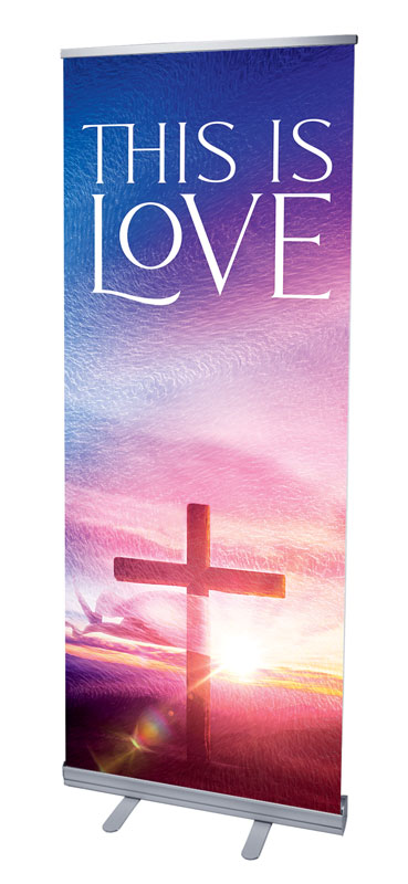 Banners, Christmas, Love Easter Colors, 2'7 x 6'7