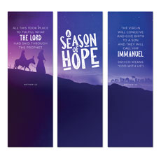 A Season Of Hope Purple Triptych