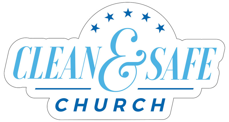 Banners, Clean and Safe Church Logo, 24 x 36