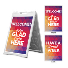 Geometric Bold Welcome Great Week