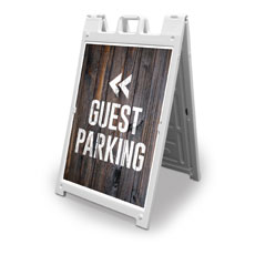 Dark Wood Guest Parking