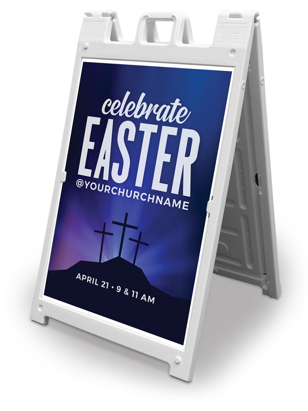 Banners, Easter, Aurora Lights Celebrate Easter, 2' x 3'