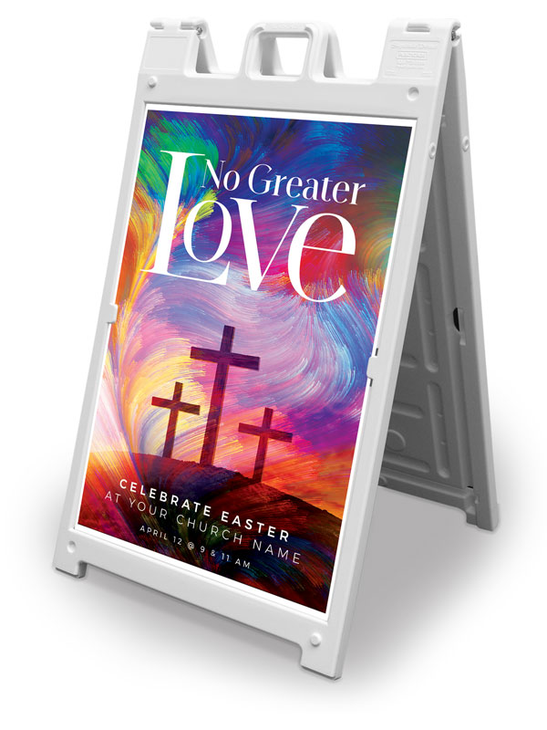Banners, Easter, No Greater Love, 2' x 3'