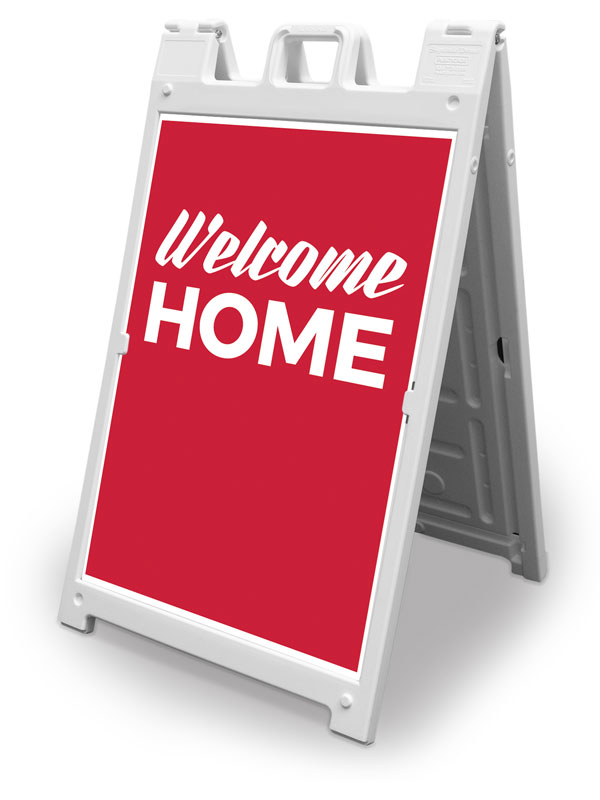 Banners, Welcome Back, Red Welcome Home, 2' x 3'