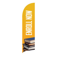 Enroll Now Flag Banner