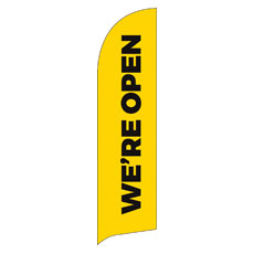 Yellow We're Open