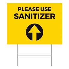Yellow Sanitizer Arrow