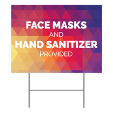 Geometric Bold Masks Sanitizer