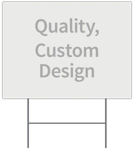 Undefined, Yard Sign: Full Design, 18 x 24